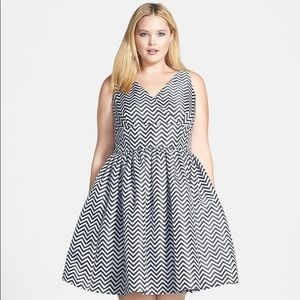 Plus Halogen Chevron Dress